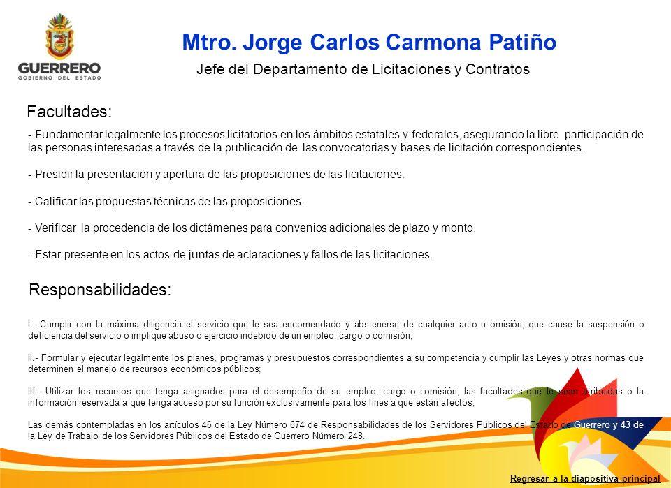 Mtro. Jorge Carlos Carmona Patiño