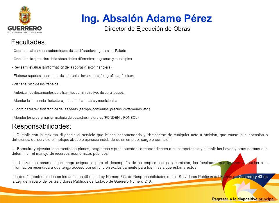 Ing. Absalón Adame Pérez