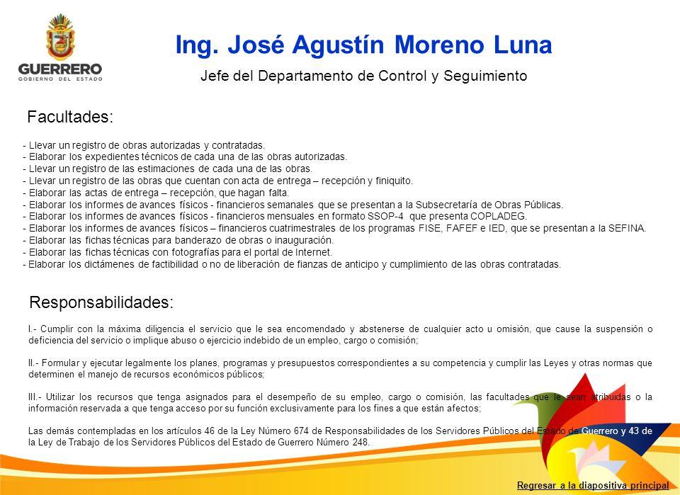 Ing. José Agustín Moreno Luna