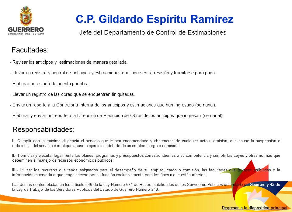 C.P. Gildardo Espíritu Ramírez