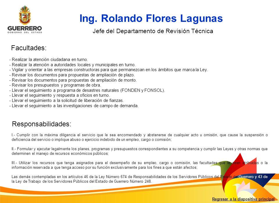 Ing. Rolando Flores Lagunas