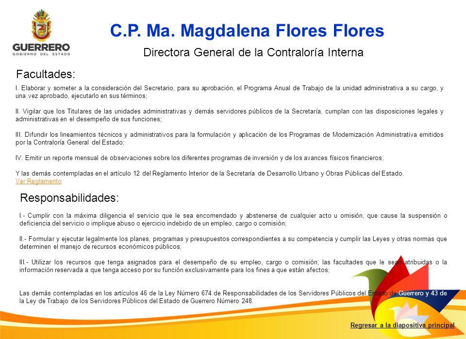 C.P. Ma. Magdalena Flores Flores