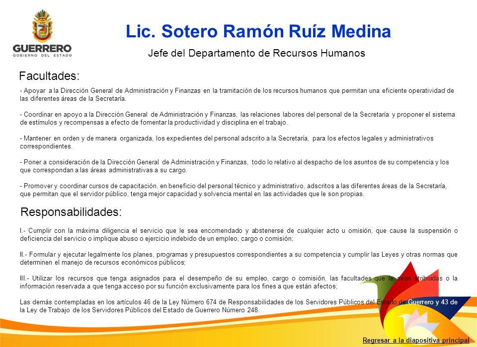 Lic. Sotero Ramón Ruíz Medina