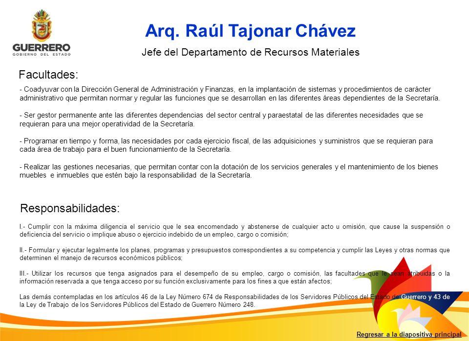Arq. Raúl Tajonar Chávez