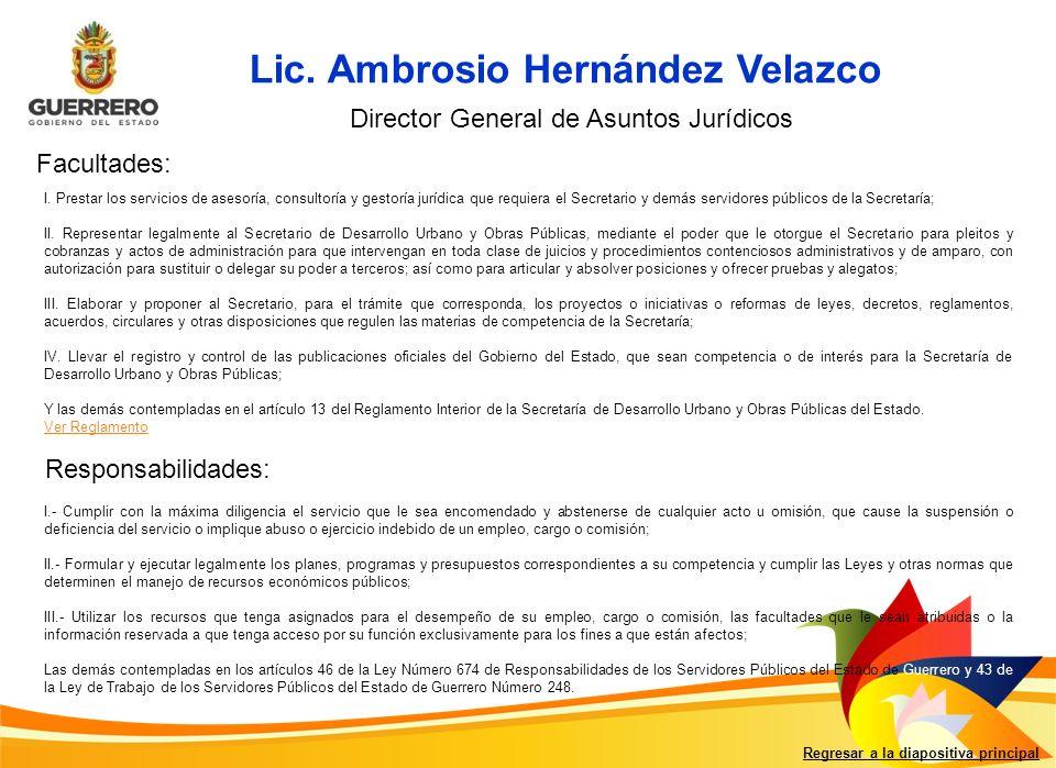 Lic. Ambrosio Hernández Velazco