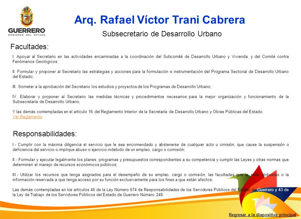 Arq. Rafael Víctor Trani Cabrera