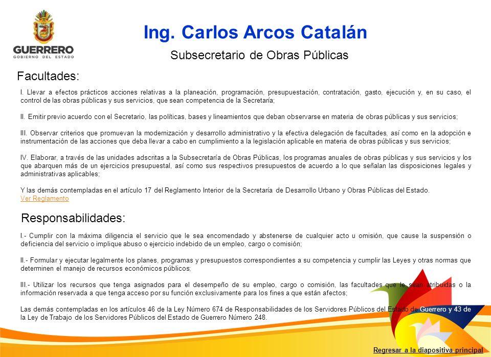 Ing. Carlos Arcos Catalán