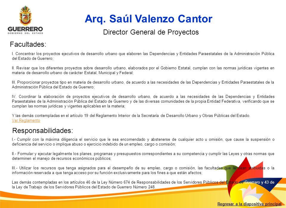 Arq. Saúl Valenzo Cantor