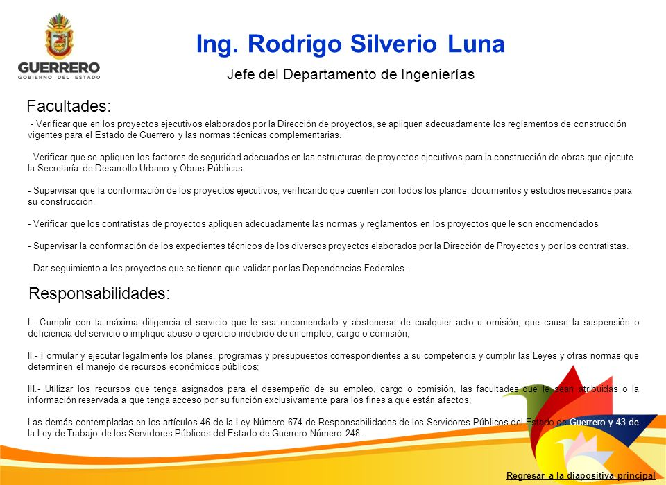 Ing. Rodrigo Silverio Luna