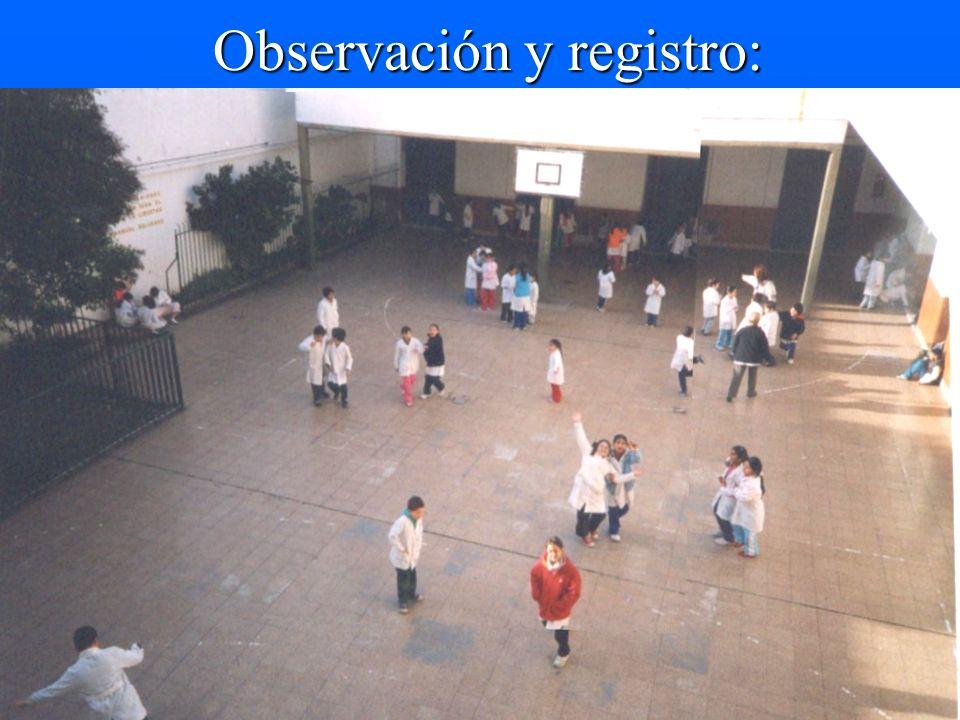Observación y registro: