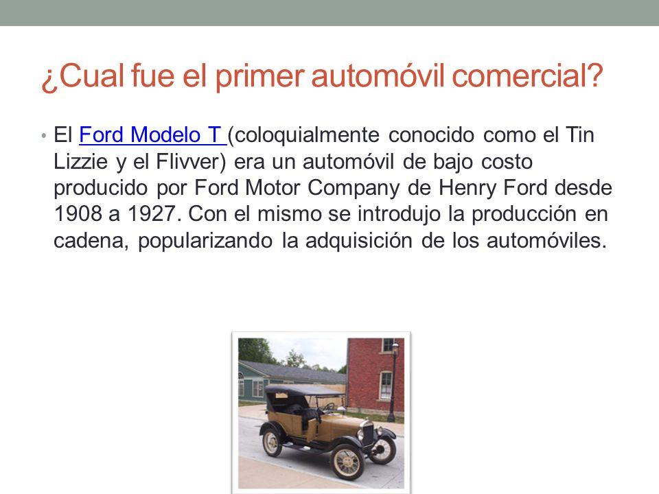 ¿Cual fue el primer automóvil comercial