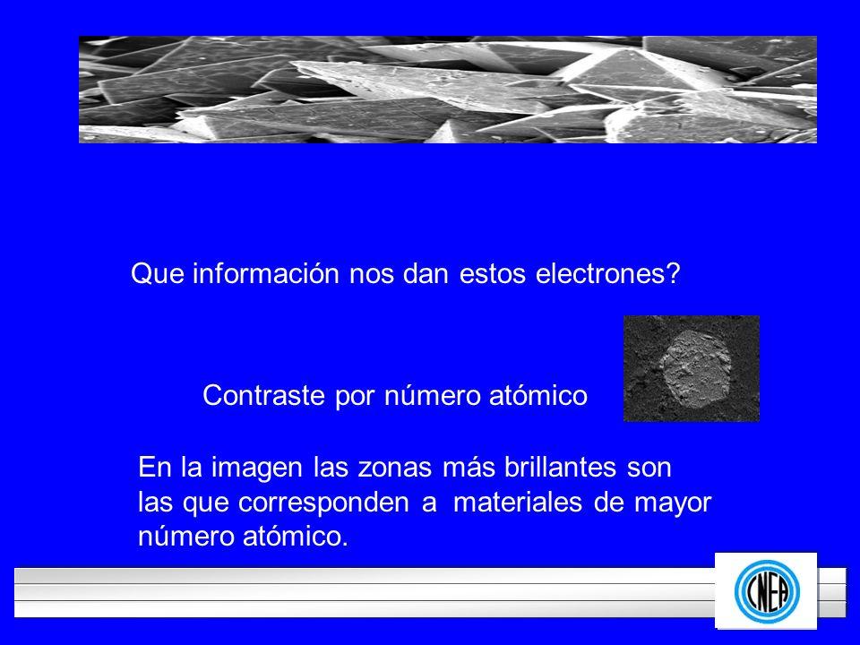 Que información nos dan estos electrones