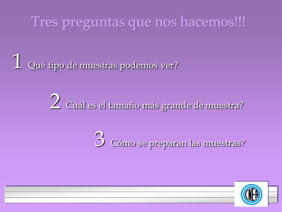 Tres preguntas que nos hacemos!!!