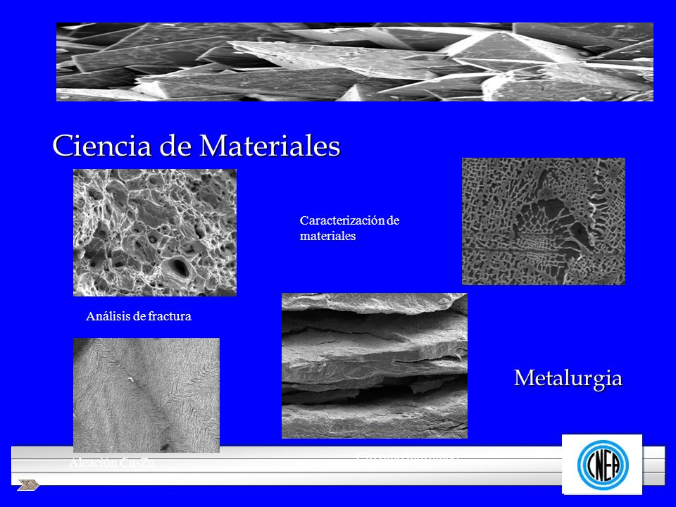 Ciencia de Materiales Metalurgia Caracterización de materiales