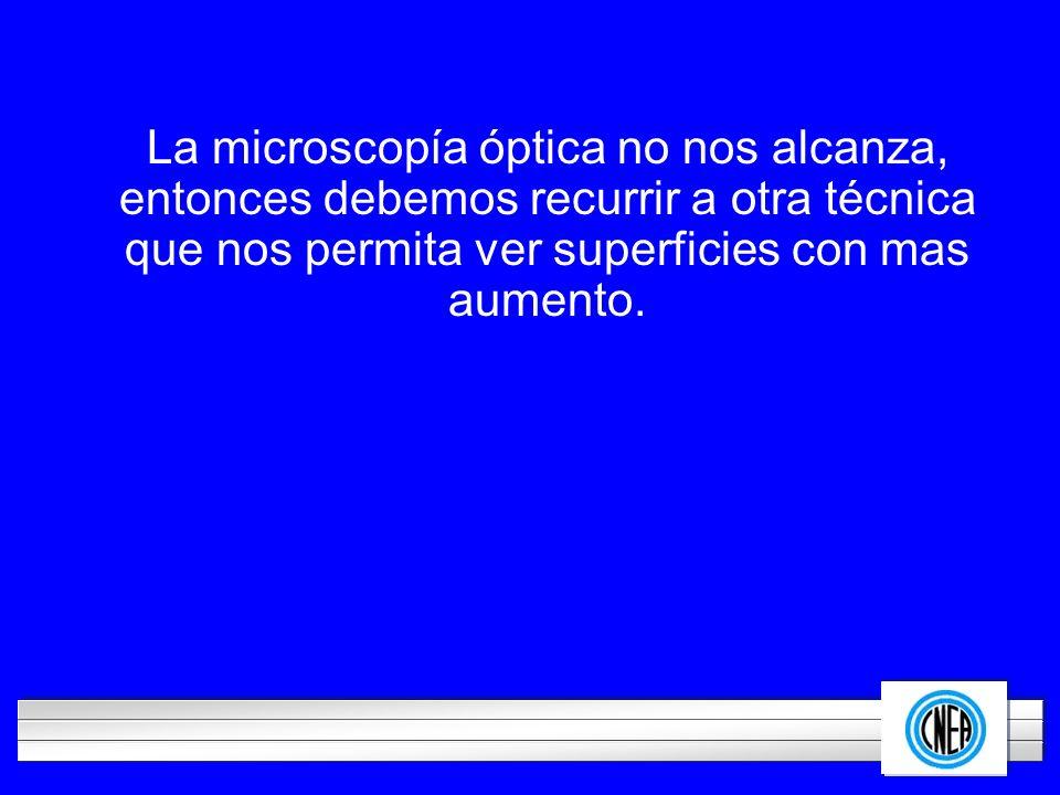 La microscopía óptica no nos alcanza,