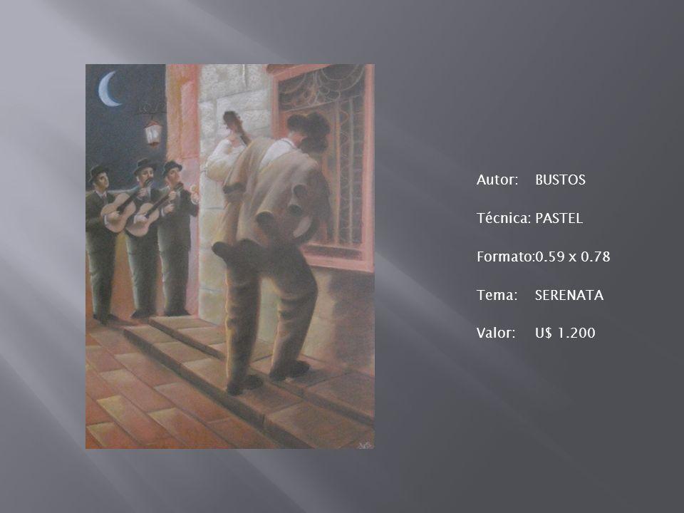 Autor: BUSTOS Técnica: PASTEL Formato: 0. 59 x 0