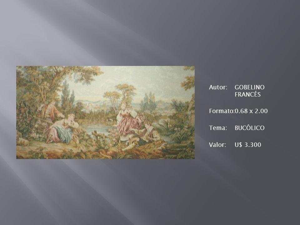 Autor: GOBELINO FRANCÉS Formato: 0. 68 x 2