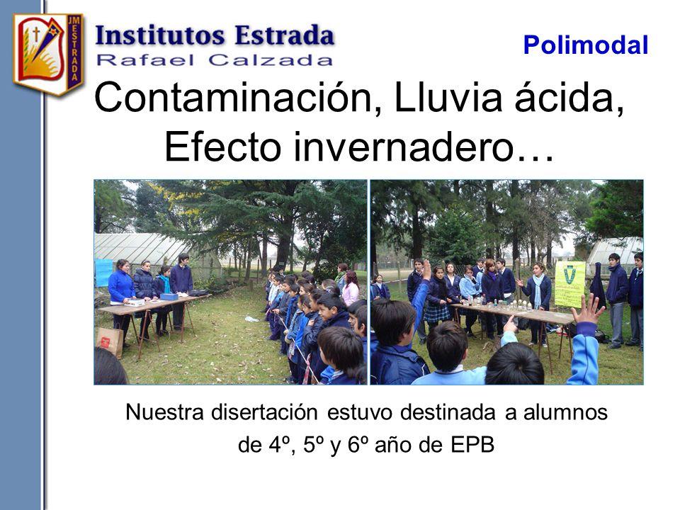 Contaminación, Lluvia ácida, Efecto invernadero…