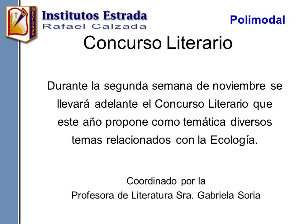 Profesora de Literatura Sra. Gabriela Soria