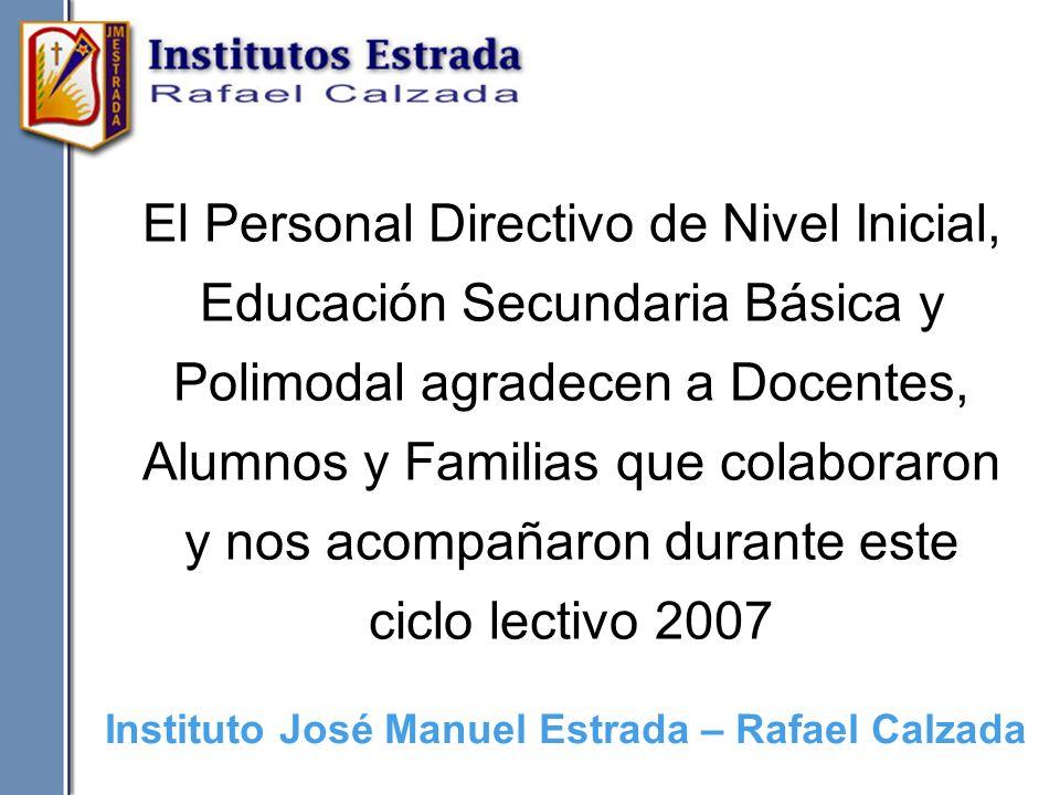 Instituto José Manuel Estrada – Rafael Calzada