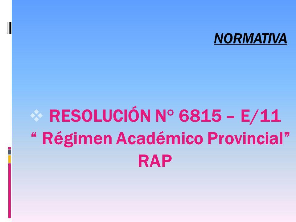 Régimen Académico Provincial