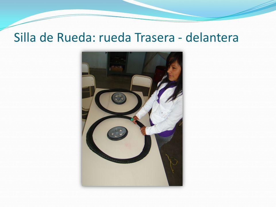 Silla de Rueda: rueda Trasera - delantera