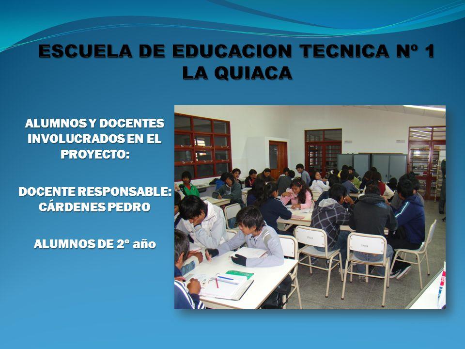 ESCUELA DE EDUCACION TECNICA Nº 1 LA QUIACA