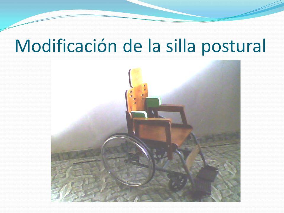 Modificación de la silla postural