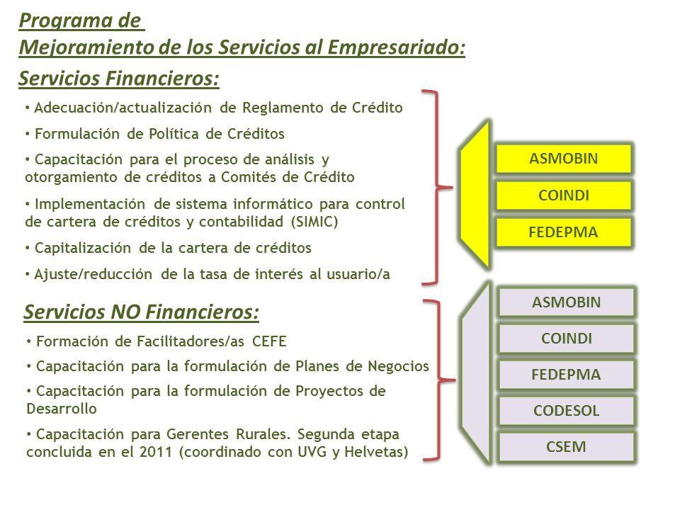Mejoramiento de los Servicios al Empresariado: