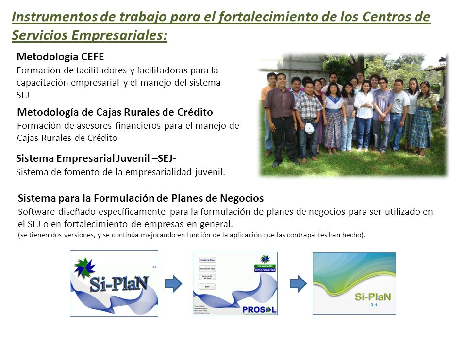 Instrumentos de trabajo para el fortalecimiento de los Centros de Servicios Empresariales: