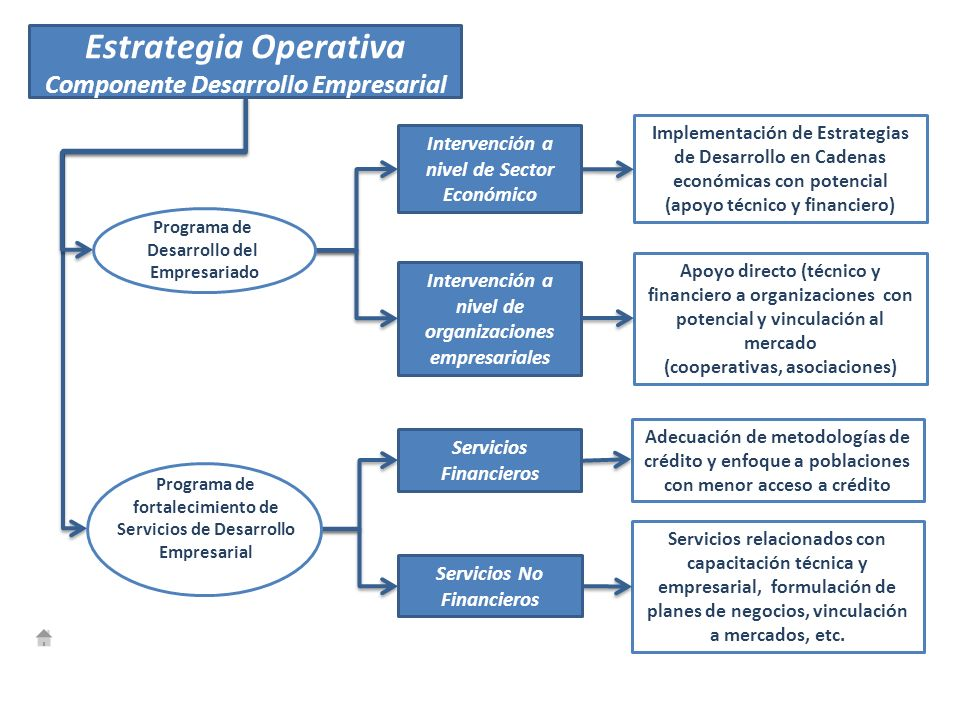 Estrategia Operativa Componente Desarrollo Empresarial