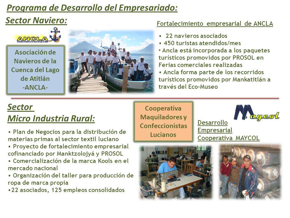 Programa de Desarrollo del Empresariado: Sector Naviero: