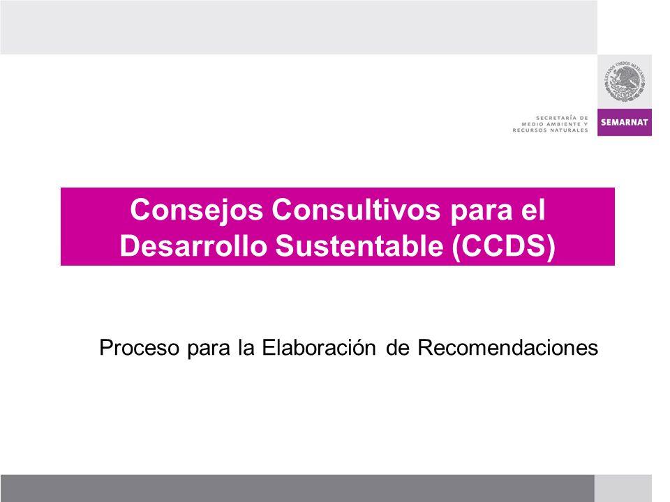 Consejos Consultivos para el Desarrollo Sustentable (CCDS)