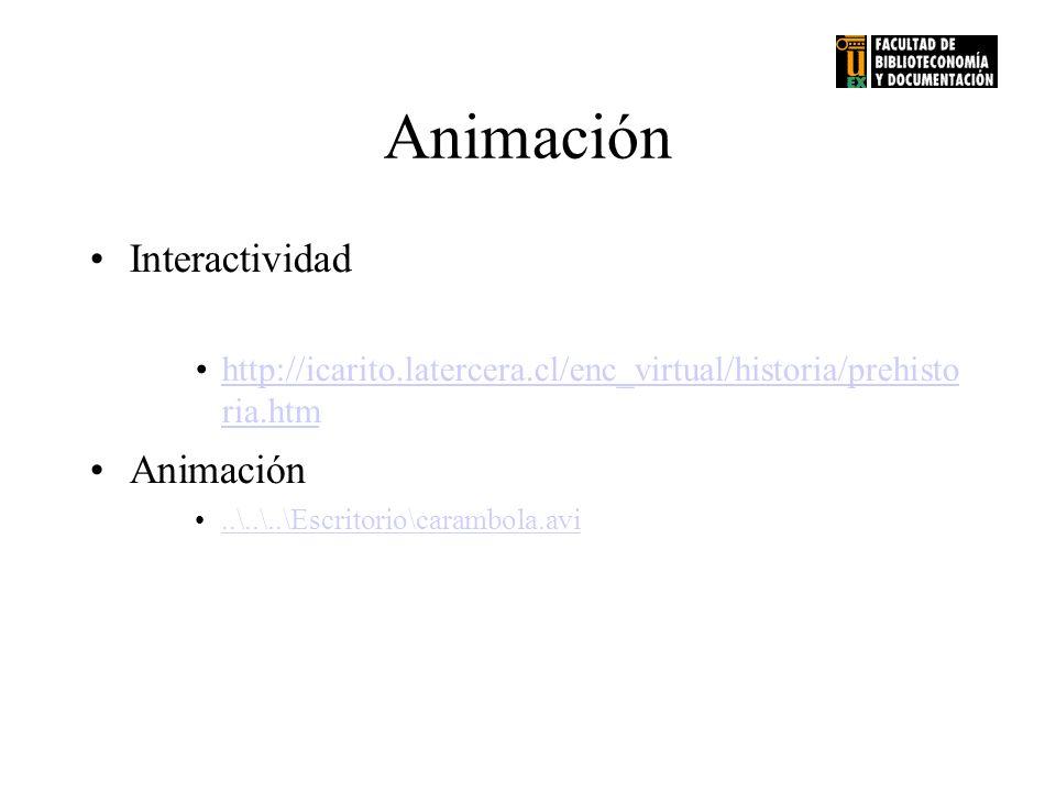 Animación Interactividad Animación