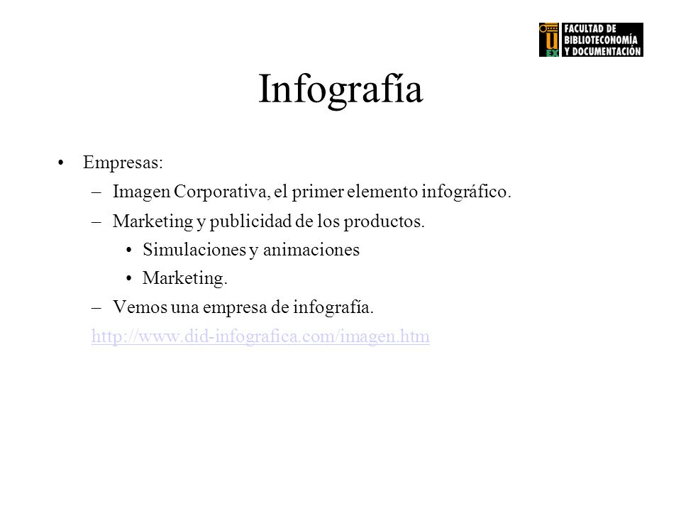 Infografía Empresas: Imagen Corporativa, el primer elemento infográfico. Marketing y publicidad de los productos.