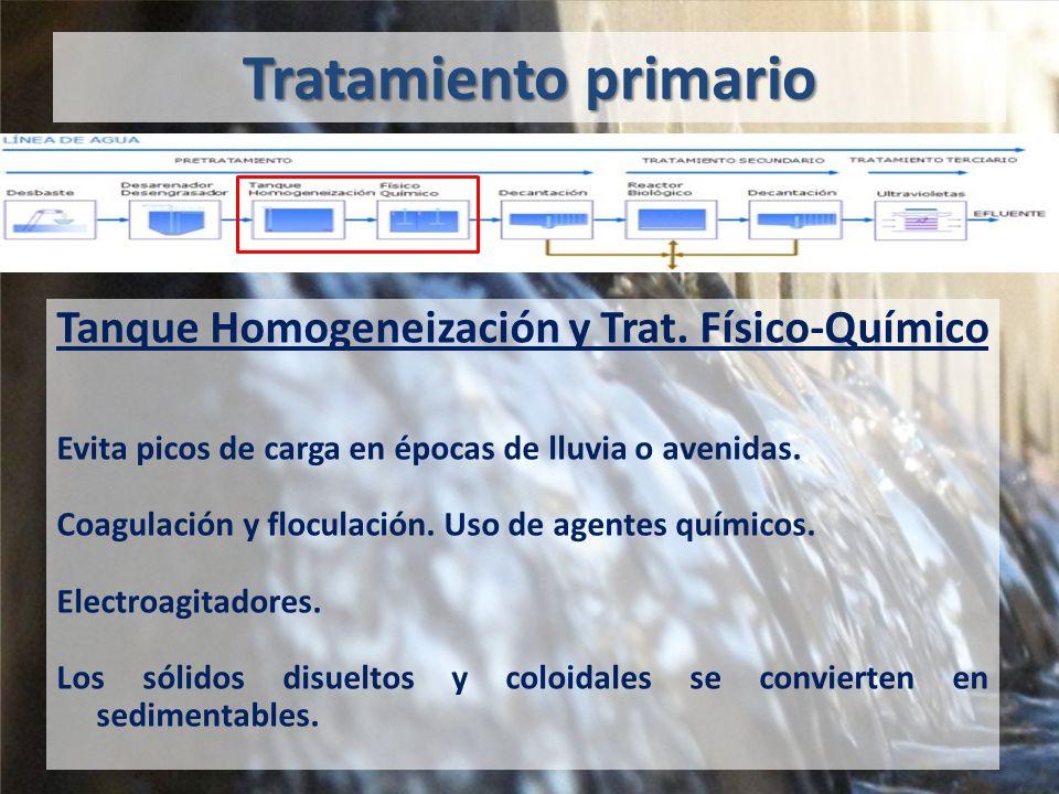 Tanque Homogeneización y Trat. Físico-Químico