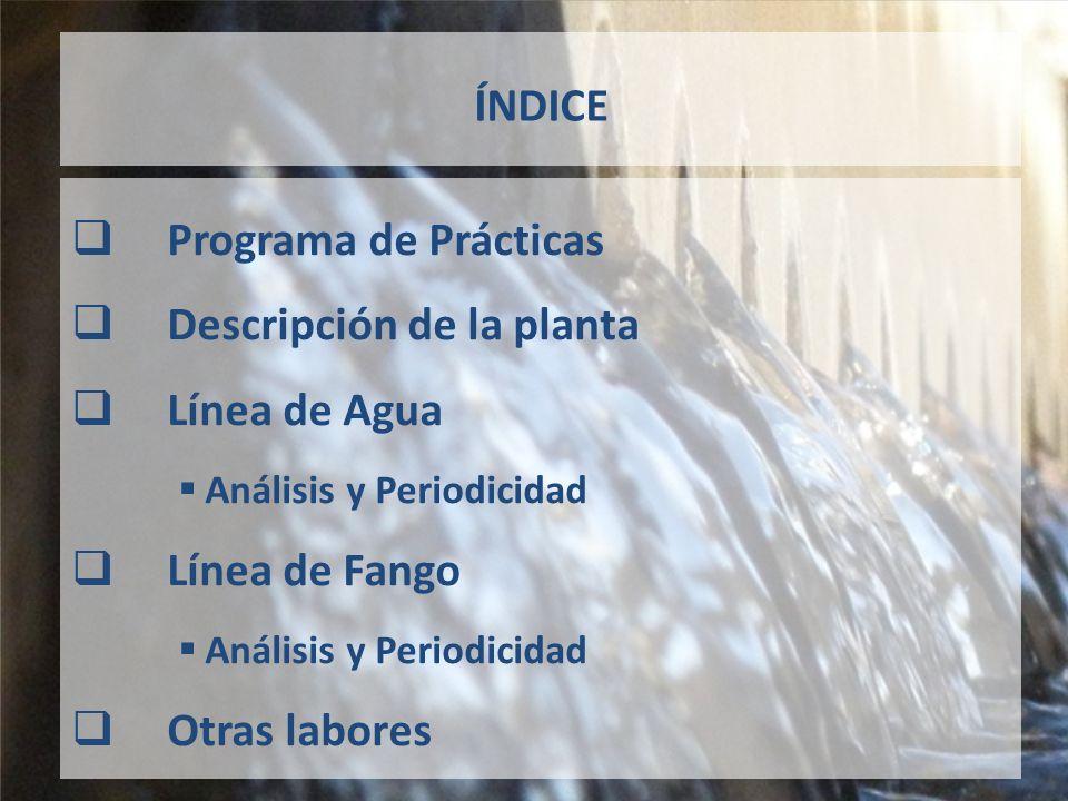 Descripción de la planta Línea de Agua