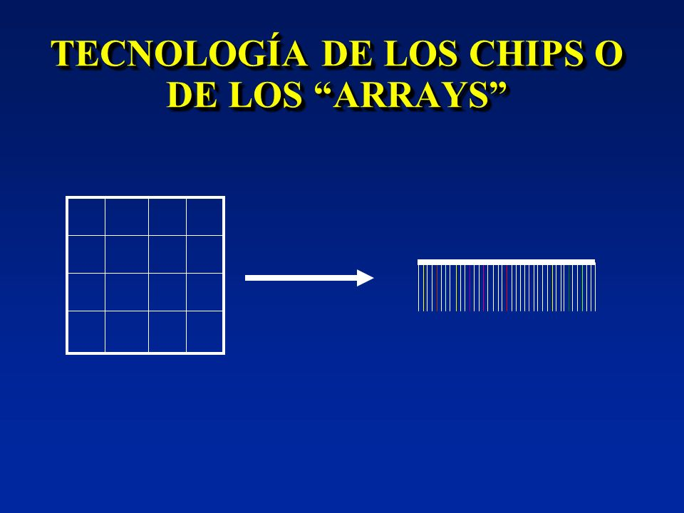 TECNOLOGÍA DE LOS CHIPS O DE LOS ARRAYS