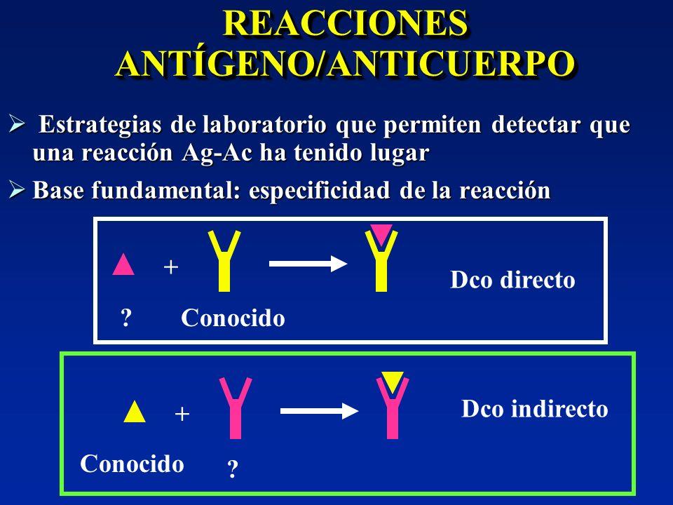 REACCIONES ANTÍGENO/ANTICUERPO