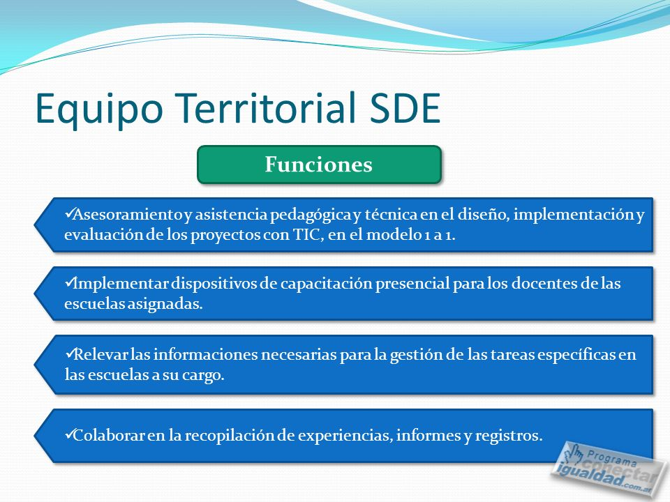 Equipo Territorial SDE
