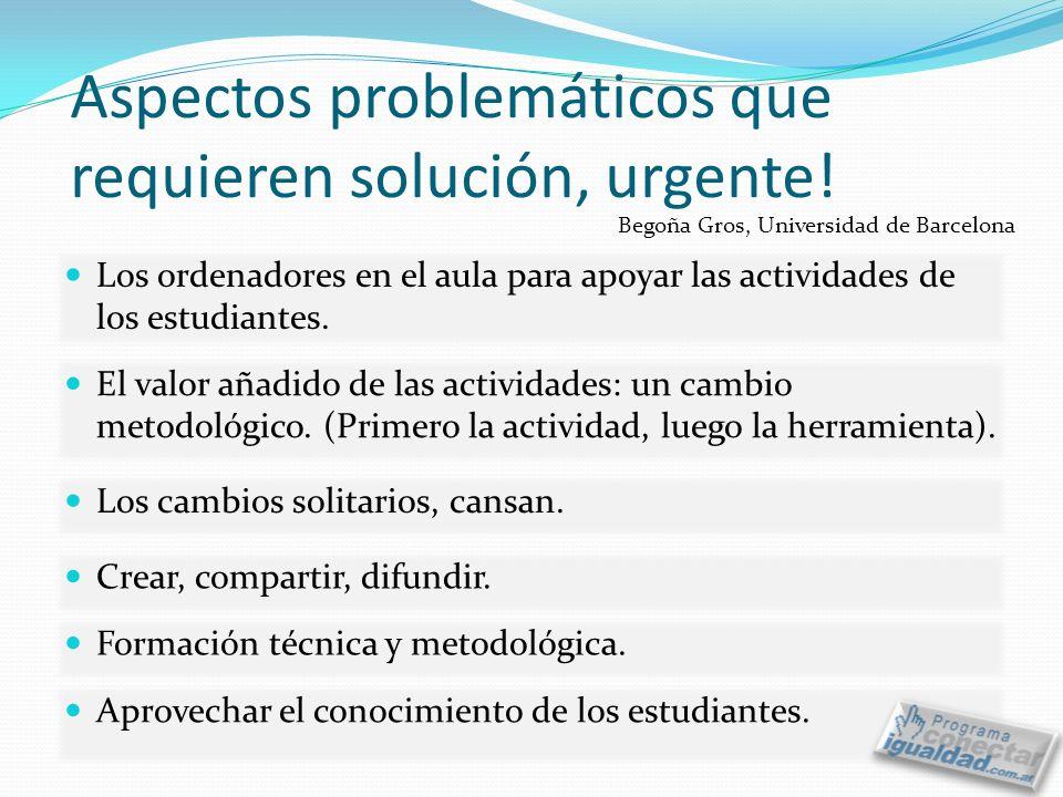 Aspectos problemáticos que requieren solución, urgente!