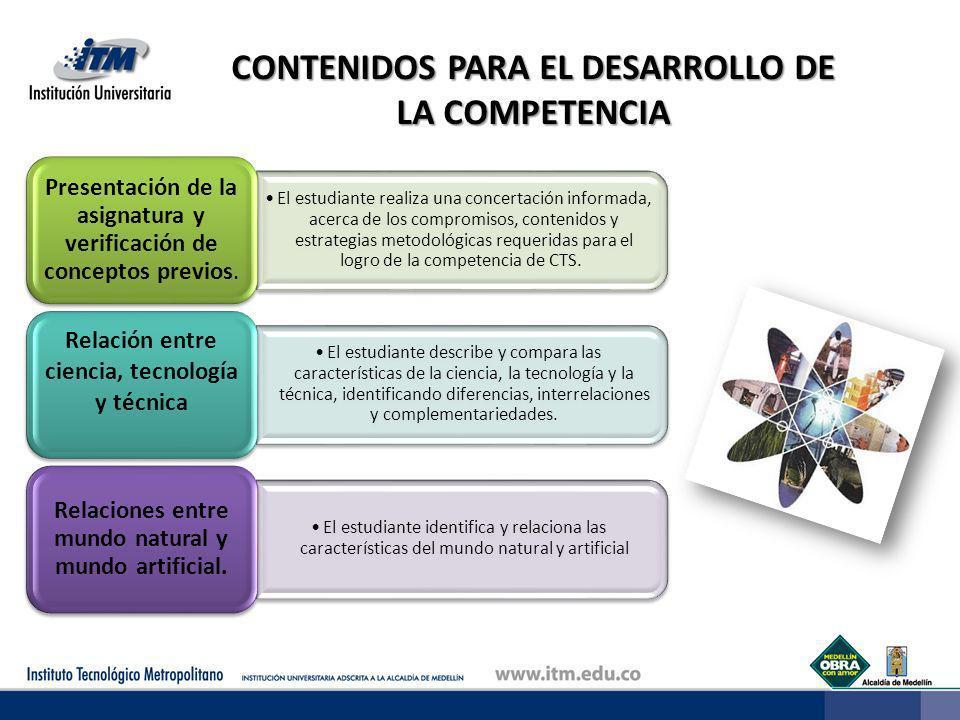 CONTENIDOS PARA EL DESARROLLO DE LA COMPETENCIA