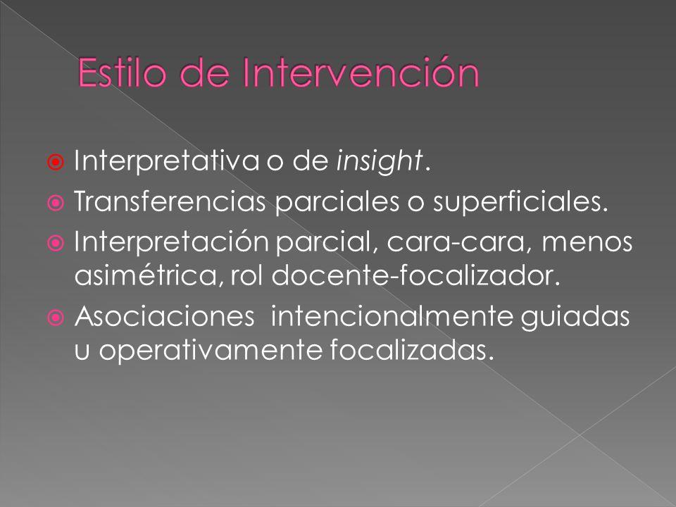 Estilo de Intervención