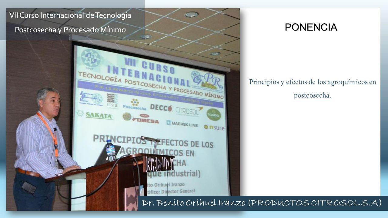 Dr. Benito Orihuel Iranzo (PRODUCTOS CITROSOL S.A)
