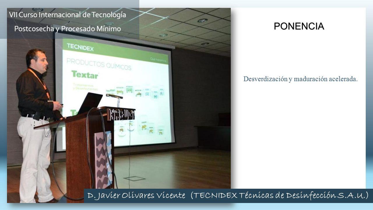 D. Javier Olivares Vicente (TECNIDEX Técnicas de Desinfección S.A.U.)