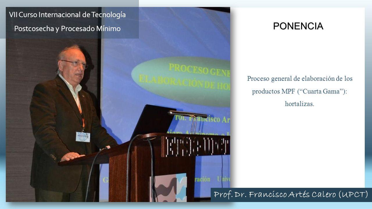 Prof. Dr. Francisco Artés Calero (UPCT)