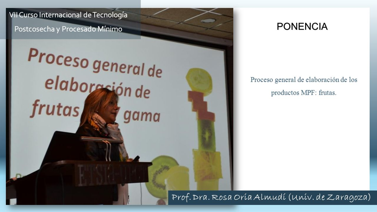 Prof. Dra. Rosa Oria Almudí (Univ. de Zaragoza)