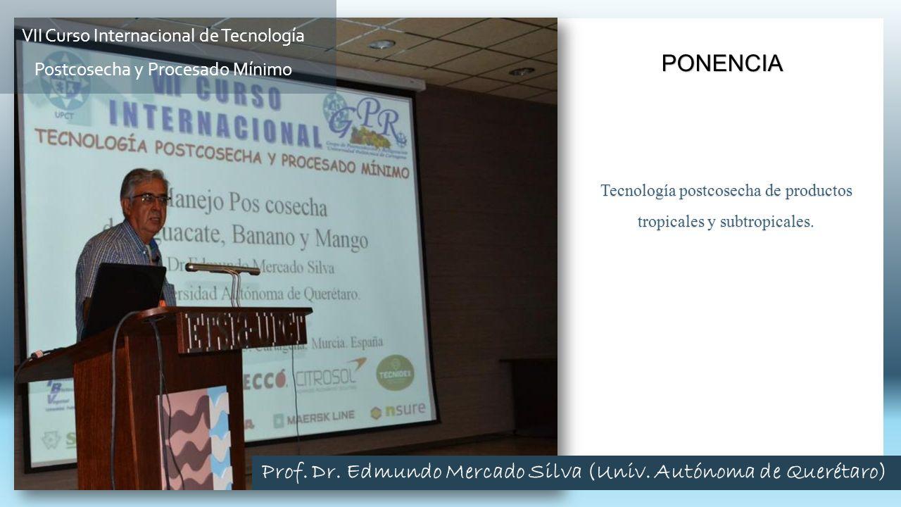 Prof. Dr. Edmundo Mercado Silva (Univ. Autónoma de Querétaro)