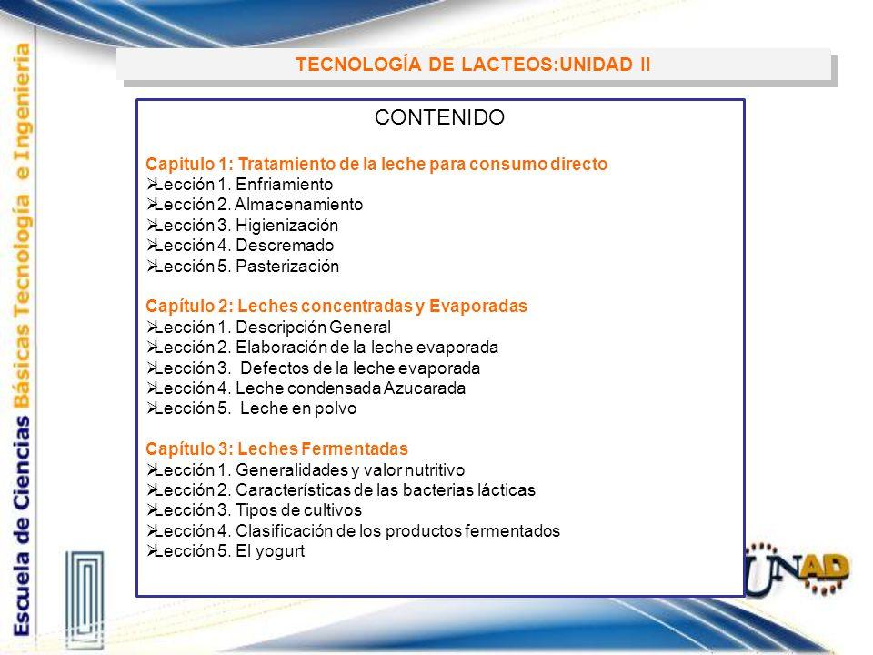 TECNOLOGÍA DE LACTEOS:UNIDAD II