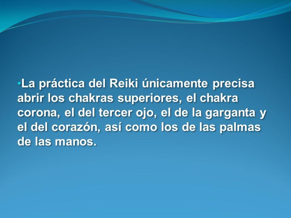La práctica del Reiki únicamente precisa
